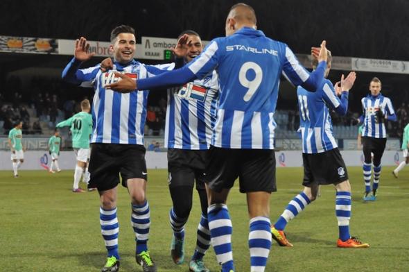 Voetbalwedstrijd van FC Eindhoven