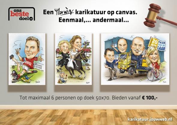 Een karikatuur 50 x 70 cm